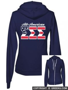 Sigma+Sigma+Sigma+Boutique+All+American+Zip+Up+Hoody