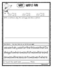 This is a comprehensive packet for teaching sight words. This packet includes 7 weeks of activities. Included are: Weekly flashcards to print and s.by Deanna Jump Teaching Sight Words, Dolch Sight Words, Sight Word Practice, Sight Word Activities, 1st Grade Centers, Literacy Centers, Reading Comprehension Games, Teach English To Kids, Popcorn Words