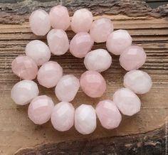 Кварц розовый 16 мм шайба огранка бусины камни для украшений. Handmade.