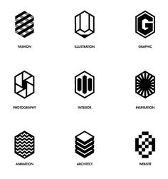 Love these shapes and how the discipline has been simplified into similar shaped icons that are easily recognisable.
