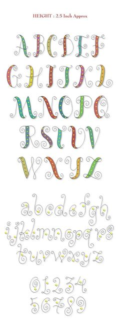 Font Font Single Letter Smartstitches embroidery designs Whimsy Font #embroidery