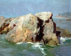 William Wendt???? On Location in Malibu - Members of the California Art Club