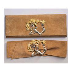 Alain FOURDRAINE  Art nouveau matching set Clutch & Belt by lesclodettes