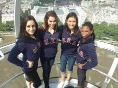 Jordyn, McKayla, Kyla, and Gabby on the London Eye