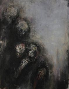 The Dark Art of French painter Isabelle Vialle Arte Horror, Horror Art, Macabre Art, Macabre Decor, Satanic Art, Dark Artwork, Creepy Art, Dark Photography, Dark Fantasy Art