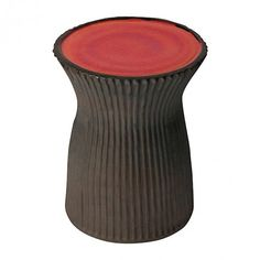 red outdoor stool  #PureHome and #OutdoorOasisContest