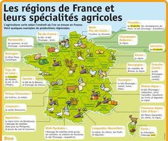 Les régions de France et leurs spécialités agricoles ♡ fromage ♡ cheese ♡ Käse ♡ formatge ♡ 奶酪 ♡ 치즈 ♡ ost ♡ queso ♡ τυρί ♡ formaggio ♡ チーズ ♡ kaas ♡ ser ♡ queijo ♡ сыр ♡ sýr ♡ קעז Food In French, Ap French, French History, Learn French, French Stuff, French Teacher, Teaching French, A Level French, Weather In France