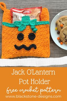 Pumpkin or Jack O'Lantern Pot Holder free crochet pattern from Blackstone Designs #crochetpattern #crochetpotholder #pumpkinpotholder #jackolanternpotholder #crochet #Thanksgivingcrafts #halloweencrafts #Thanksgivingcrochet #halloweencrochet #pumpkin #jackolantern