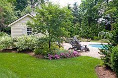 Backyard landscape and pool design
