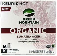 Green Mountain Coffee Organic Sumatra Aceh Keurig K-Cups, 16 Count >>> To view further for this article, visit the image link. #Coffee
