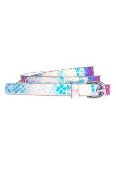 Holographic print belt, ASOS.com, $13.30