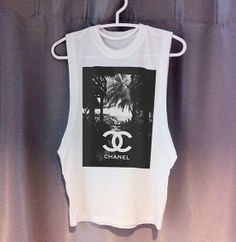 LIMITED CHANEL beach Cutoff Tee DIY dope swag hipster tumblr chloe fendi prada