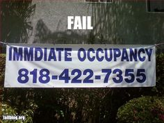 Another Apartment Complex Epic Fail.this is why we have Spell Check! Property Management Humor, Manager Humor, You Had One Job, Apartment Complexes, Funny Signs, Spelling, Fails, Epic Fail, Renting