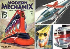 From trains with radio tubes to jet-powered trains, concept artists seemed to have limitless ideas.