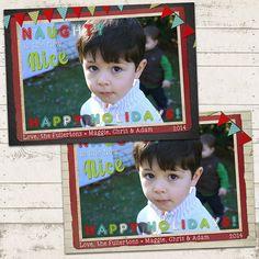 Christmas Photo Card  5x7 printable download  by ValeriePullam, $13.00