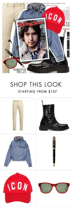 """Get the Look: Menswear"" by cultofsharon ❤ liked on Polyvore featuring Calvin Klein Collection, Vetements, Fear of God, Parker, Dsquared2, Gucci, B&O Play, vintage, men's fashion and menswear"
