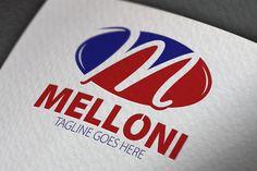 Melloni M Letter Logo by samedia on Creative Market