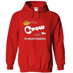 Its a Crow Thing, You Wouldnt Understand !! tshirt, t s - #tshirt text #tshirt moda. SIMILAR ITEMS => https://www.sunfrog.com/Names/Its-a-Crow-Thing-You-Wouldnt-Understand-tshirt-t-shirt-hoodie-hoodies-year-name-birthday-9625-Red-47916735-Hoodie.html?68278
