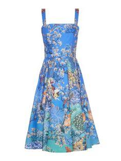 Favry Ramora Ocean-print dress  | Mary Katrantzou | MATCHESFASHION.COM US
