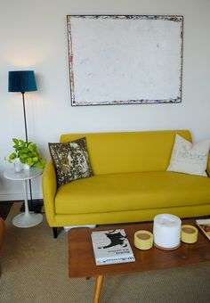 House Tour: Kyle & Erin's U Street One Bedroom with a View (Mid-century furniture)
