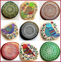 Have a wonderful Monday everyone! This beautiful collage is for you I'm sure you will have a favourite stone between my birds and mandalas So tell me which one?