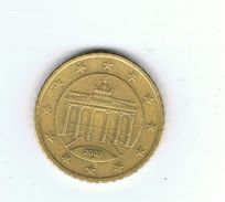 GERMANY, 50 EURO CENT (BRANDENBURG GATE-A,D,F,G,J),SERIES 2002-2017, EURO CIRCULATION, CIRCULATED COIN (2002), VF   For sale on Delcampe