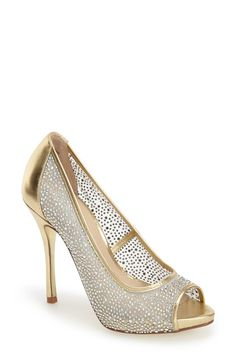 Kristin Cavallari 'Light' Peep Toe Mesh Pump (Women) | Nordstrom