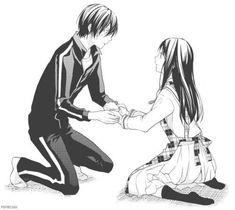 Noragami - hiyori and yato Girls Anime, All Anime, Manga Anime, Anime Art, Anime Life, Noragami Hiyori And Yato, Yatori, Otaku, Version Francaise