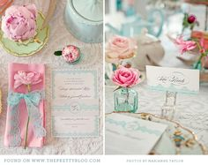 Pink & Turquoise Tea Party {Decor Inspiration} | {Be Inspired} | The Pretty Blog I'm in love with this wedding!!