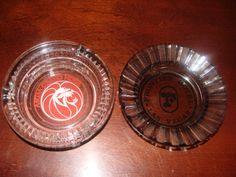 Lot of 2 Vintage glass Las Vegas Casino Ashtrays by TheClassyLady, $12.00