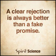 Rejection is not always a bad thing