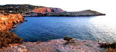 Panorámica de Cala Bassa, Ibiza. Islas Baleares. Spain.   [By Valentin Enrique].