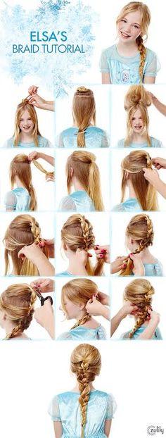 Frozen Hair Tutorial - Elsa Braid