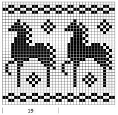 Mustrilaegas: AA Kirjatud kudumid / Patterned knits - horses coulourwork knitting chart - hest strikking  mønster