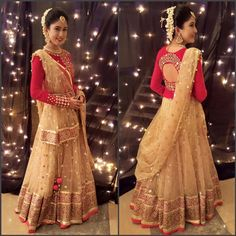 • pinterest: @garimajani • Half Saree Lehenga, Lehenga Style, Abaya Style, Sarees, Half Saree Designs, Lehenga Designs, Blouse Designs, Indian Wedding Outfits, Indian Outfits
