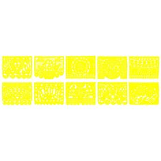 Yellow Papel Picado Banner - 18 Ft. Long [KWPSL-Y_PSPL-Y Buy Yellow Banner] : Wholesale Wedding Supplies, Discount Wedding Favors, Party Favors, and Bulk Event Supplies
