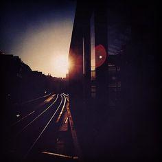 siebensiebtel #sunrise #berlin #trainstation