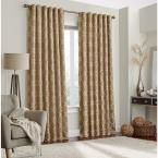 Eclipse Correll 108 in. L Polyester Rod Pocket Curtain in Taupe (Brown) (1-Pack)