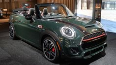 Third generation of the BMW's Mini John Cooper Works convertible was unveiled at the New York motor show sporting the same litre four Mini Cooper S, Cooper Cars, Cooper Countryman, Mini Cooper Convertible, John Cooper Works, Bmw S, Sport Seats, Cute Cars, Classic Cars