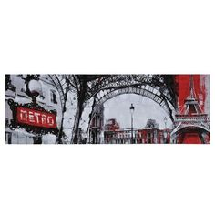 Ren Wil Urban Paris Canvas Art (9,130 PHP) ❤ liked on Polyvore featuring home, home decor, wall art, decor, paris wall art, parisian home decor, black canvas wall art, canvas home decor and ren-wil