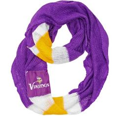 Cozy up in this Vikings infinity scarf on cool spring evening, or accessorize your favorite sundress for the perfect afternoon look.