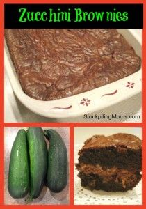 Zucchini Brownies are so yummy and a great way to sneak in a veggie into your families dessert
