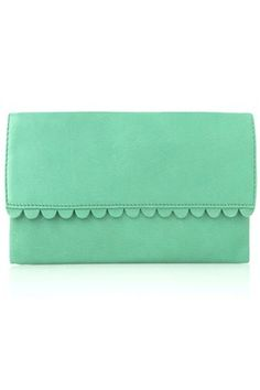 French Connection Sweetie Scallop Clutch