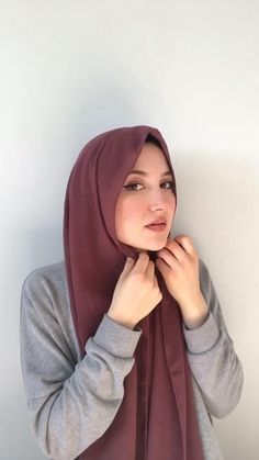 Pashmina Hijab Tutorial, Turkish Hijab Tutorial, Simple Hijab Tutorial, Turban Tutorial, Hijab Style Tutorial, Muslim Fashion, Modest Fashion Hijab, Modern Hijab Fashion, Street Hijab Fashion