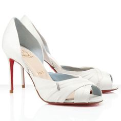 Christian Louboutin Shoes Tres Ophrah 85mm Pumps Off White - 2013 Outlet