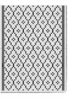 Rastas 10 Filet Crochet, Crochet Chart, Crochet Doilies, Fair Isle Knitting Patterns, Knitting Charts, Knitting Stitches, Cross Stitch Embroidery, Embroidery Patterns, Crochet Patterns