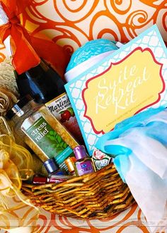 a relaxing suite retreat gift basket for him.