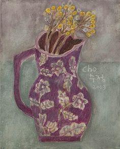 Treebystream — still life with wild flower, Soojung Cho Illustrations, Illustration Art, Still Life Art, Painting & Drawing, Life Drawing, Floral Watercolor, Painting Inspiration, Art Lessons, Flower Art