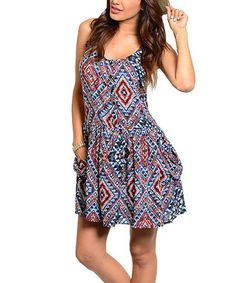 Another great find on #zulily! Royal & Red Tribal Racerback Dress #zulilyfinds