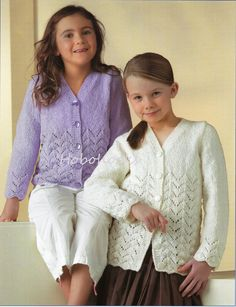 Girls knitting pattern girls cardigans girls lacy by Minihobo